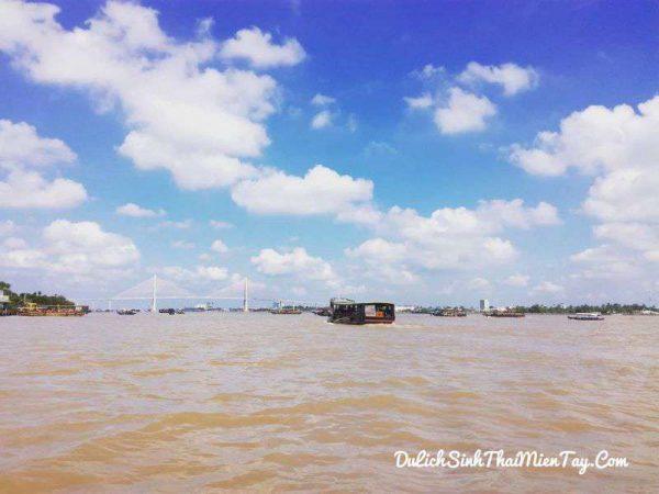 Trên du thuyền thưởng ngoạn dòng sông Tiền đầy ấp phù sa bao quanh Tứ Linh: Long - Lân - Qui - Phụng