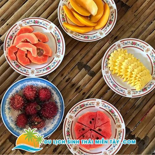 Thưởng thức trái cây và đờn ca tài tử Nam Bộ