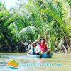 Ngồi thuyền qua các rạch dừa nước