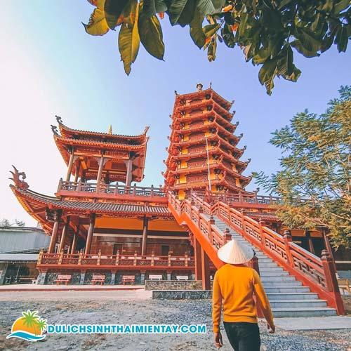 Tour miền Tây 2 ngày 1 đêm giá rẻ - Chùa Phật Ngọc Xá Lợi - Vĩnh Long