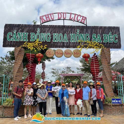 Tour miền Tây 2N1D - KDL Cánh Đồng Hoa Hồng Sa Đéc